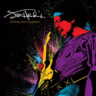 calendrier Jimi Hendrix 2017, PYRAMID POSTERS, Jimi Hendrix