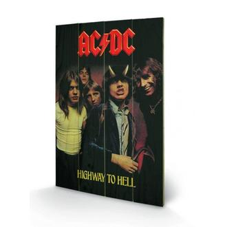 image en bois AC / DC - Highway to Hell, PYRAMID POSTERS, AC-DC