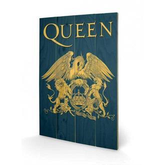 image en bois Queen - Crest, PYRAMID POSTERS, Queen