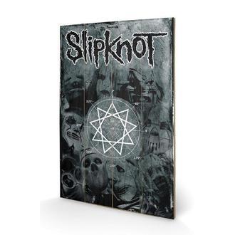 image en bois Slipknot - Pentagram, PYRAMID POSTERS, Slipknot