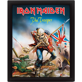 3D image Iron Maiden - The Trooper, PYRAMID POSTERS, Iron Maiden