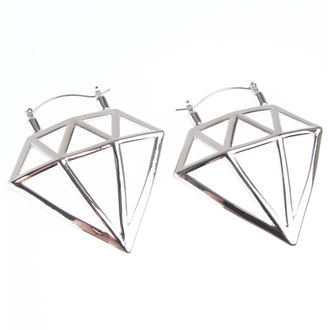 Des boucles d'oreilles INOX - 20G DIAMOND, INOX