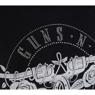 tee-shirt métal pour femmes Guns N' Roses - Circle Logo - ROCK OFF, ROCK OFF, Guns N' Roses
