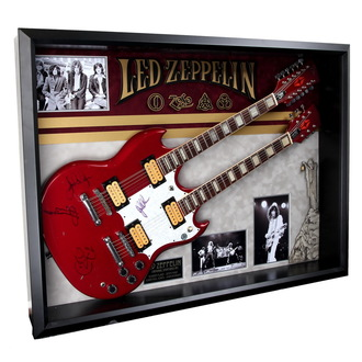 guitare signée Led Zeppelin - ANTIQUITIES CALIFORNIA, ANTIQUITIES CALIFORNIA, Led Zeppelin