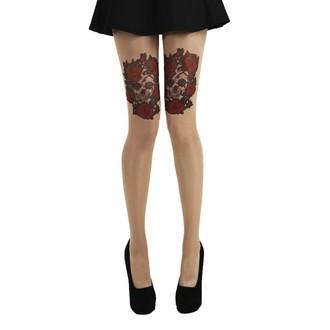 Collants PAMELA MANN - Skull and Red Roses Tattoo, PAMELA MANN