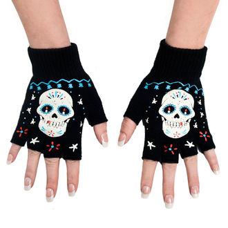 Des gants fingerless TOO FAST - Sugar Skul, TOO FAST