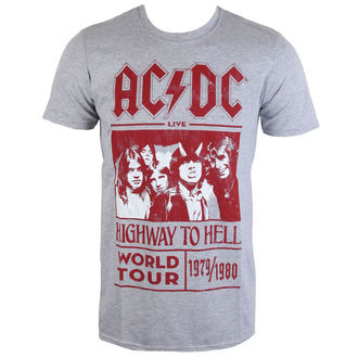 tee-shirt métal pour hommes AC-DC - Highway To Hell World Tour 1979/80 - ROCK OFF - ACDCTTRTW01MG