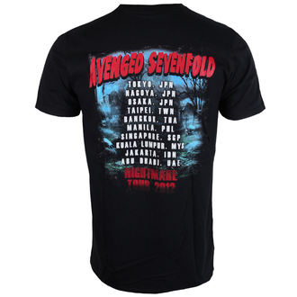 tee-shirt métal pour hommes Avenged Sevenfold - Buried Alive Tour 2012 - ROCK OFF, ROCK OFF, Avenged Sevenfold