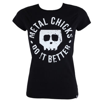 t-shirt hardcore pour femmes - Skull - METAL CHICKS DO IT BETTER, METAL CHICKS DO IT BETTER