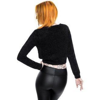 Chandail aux femmes KILLSTAR - Black Out Fuzzy Crop, KILLSTAR
