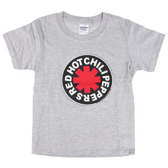 tee-shirt métal pour hommes enfants Red Hot Chili Peppers - Logo in Circle Grey -, Red Hot Chili Peppers