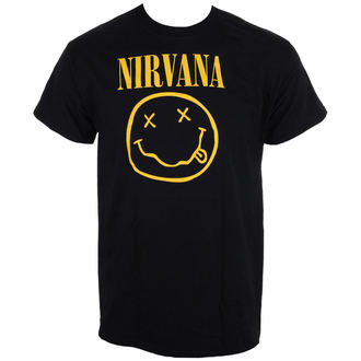 tee-shirt métal pour hommes Nirvana - Smiley Logo - LIVE NATION, LIVE NATION, Nirvana