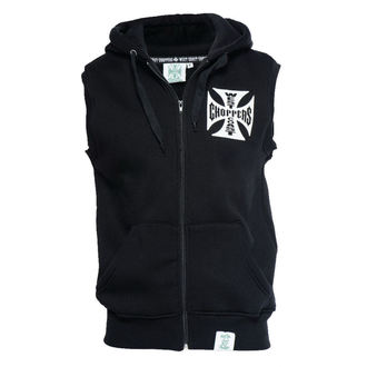 gilet - IRON CROSS SLEEVELESS HOODY - West Coast Choppers, West Coast Choppers