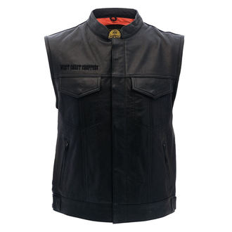 gilet - OG CROSS LEATHER RIDING - West Coast Choppers, West Coast Choppers