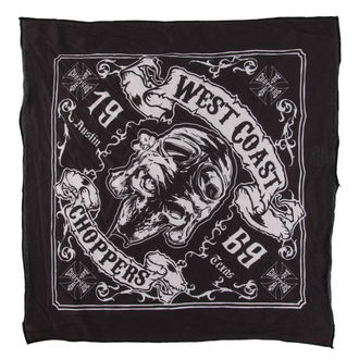 Foulard West Coast Choppers - SKULL 13 - NOIR, West Coast Choppers