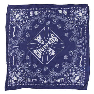 Foulard West Coast Choppers - HANDCRAFTED -  BLEU , West Coast Choppers