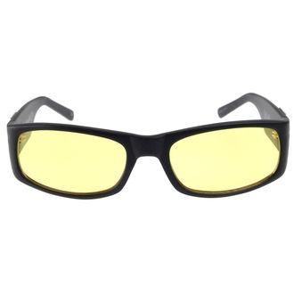 Des lunettes West Coast Choppers - WCC GANGSCRIPT - MAT NOIR JAUNE, West Coast Choppers