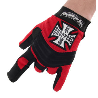Des gants West Coast Choppers - RIDING - NOIR / ROUGE, West Coast Choppers