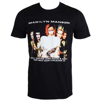 tee-shirt métal pour hommes Marilyn Manson - Rock Is Dead - ROCK OFF - MMTTRTW01MB