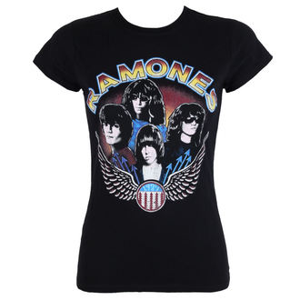 tee-shirt métal pour femmes Ramones - Vintage Wings - ROCK OFF, ROCK OFF, Ramones