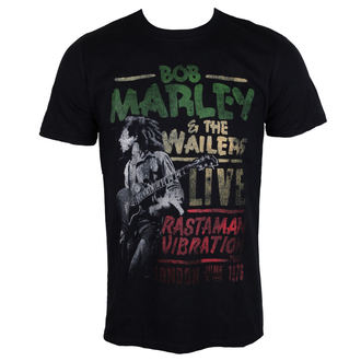 tee-shirt métal pour hommes Bob Marley - Rastaman Vibration - ROCK OFF, ROCK OFF, Bob Marley