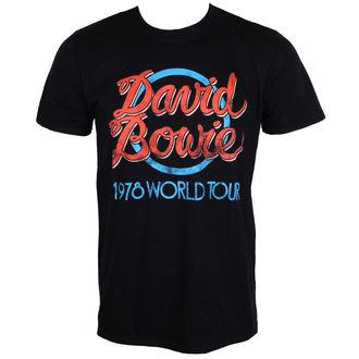 tee-shirt métal pour hommes David Bowie - 1978 World Tour - ROCK OFF, ROCK OFF, David Bowie