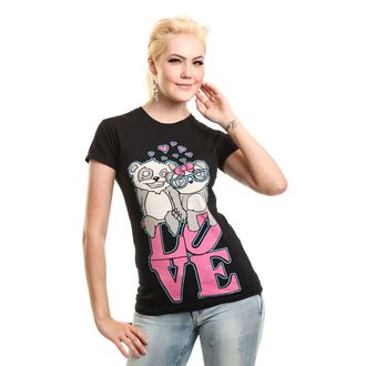 t-shirt pour femmes - LOVE TO HATE - KILLER PANDA, KILLER PANDA