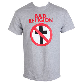 tee-shirt métal pour hommes Bad Religion - Crossbuster Heather Gray - KINGS ROAD, KINGS ROAD, Bad Religion