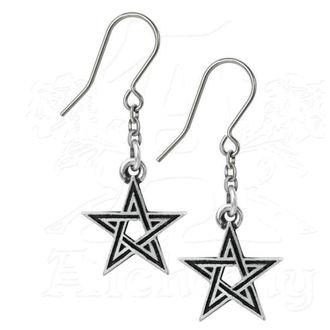 boucle d'oreille ALCHEMY GOTHIC - Black Star, ALCHEMY GOTHIC