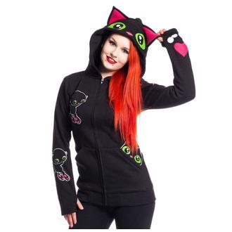 sweat-shirt avec capuche pour femmes - BLACK CAT - CUPCAKE CULT, CUPCAKE CULT
