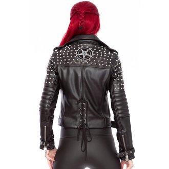 veste en cuir pour femmes - Baphomet - KILLSTAR, KILLSTAR
