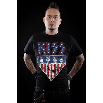 tee-shirt métal pour hommes Kiss - Stars & Stripes - HYBRIS, HYBRIS, Kiss
