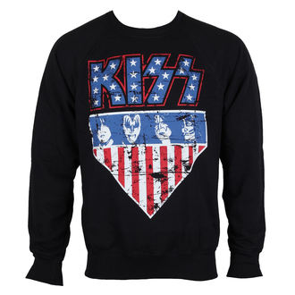 sweat-shirt sans capuche pour hommes Kiss - Stars & Stripes - HYBRIS, HYBRIS, Kiss