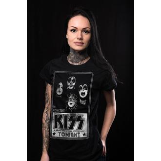 tee-shirt métal pour femmes Kiss - In Concert Distressed Poster - HYBRIS, HYBRIS, Kiss
