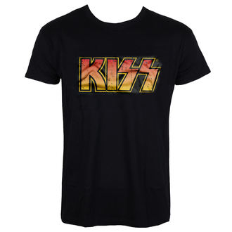 tee-shirt métal pour hommes Kiss - Distressed Logotype - HYBRIS, HYBRIS, Kiss