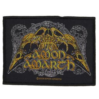 patch AMON AMARTH - RAVEN SKULL - RAZAMATAZ, RAZAMATAZ, Amon Amarth