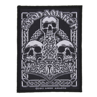 patch AMON AMARTH - THREE SKULLS - RAZAMATAZ, RAZAMATAZ, Amon Amarth