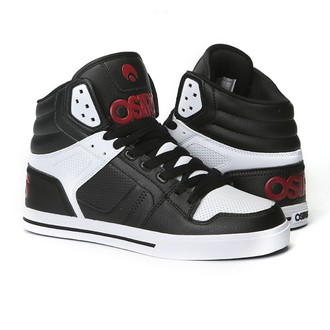 chaussures de tennis montantes pour femmes unisexe - Clone Black/Red/White - OSIRIS, OSIRIS