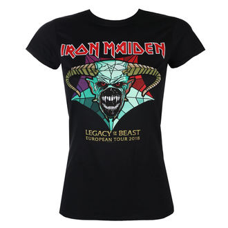 tee-shirt métal pour femmes Iron Maiden - Legacy of the Beast European Tour 2018 - ROCK OFF, ROCK OFF, Iron Maiden