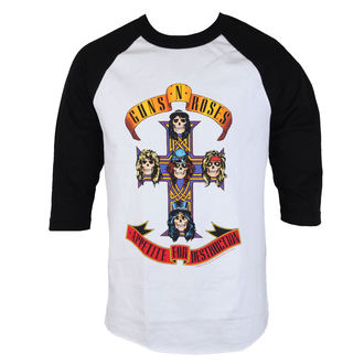 tee-shirt métal pour hommes Guns N' Roses - AFD RAGLAN-WHITE/BLACK - BRAVADO, BRAVADO, Guns N' Roses