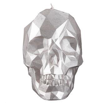 Bougie Crâne - Silver