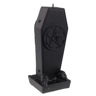 bougie Cercueil avec Pentacle - Black Matt