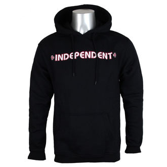 sweat-shirt avec capuche pour hommes - Bar Cross Black - INDEPENDENT, INDEPENDENT