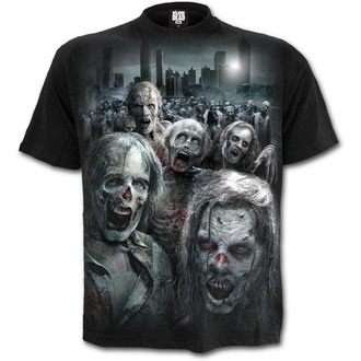 t-shirt de film pour hommes The Walking Dead - ZOMBIE HORDE - SPIRAL, SPIRAL, The Walking Dead