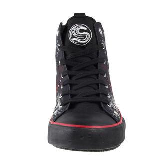 chaussures de tennis montantes pour hommes - DEATH BONES - SPIRAL, SPIRAL