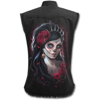 chemise femmes  sans manches SPIRAL - DAY OF THE DEAD - Noir, SPIRAL