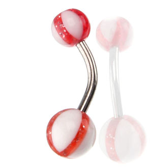 bijou piercing - blanc / rouge, NNM