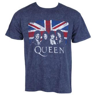 tee-shirt métal pour hommes Queen - Denim - ROCK OFF, ROCK OFF, Queen