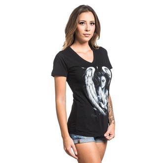t-shirt femmes SULLEN - INK ANGEL - NOIR, SULLEN