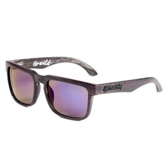 des lunettes soleil MEATFLY - Foggy - ré - Noir Bois, MEATFLY
